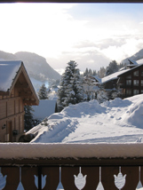 The chalet`s view from balcony - Les Gets